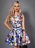 Молодежное платье с цветами
