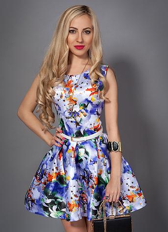 Молодежное платье с цветами, фото 2