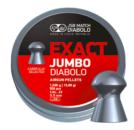 Пули пневматические 5.5 JSB Exact Jumbo, 5.51,1.030,250шт, фото 2