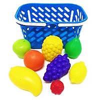 Корзинка голубая с фруктами 8 предметов Kinderway (04-453)