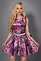 Молодежное летнее платье с цветами, фото 2