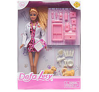 Кукла DEFA доктор, 29см, чемодан, инструменты, собачка 2шт, 8346A