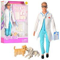 Кукла Defa Доктор Ветиринар с чемодананом инструментами собачками (8346B)