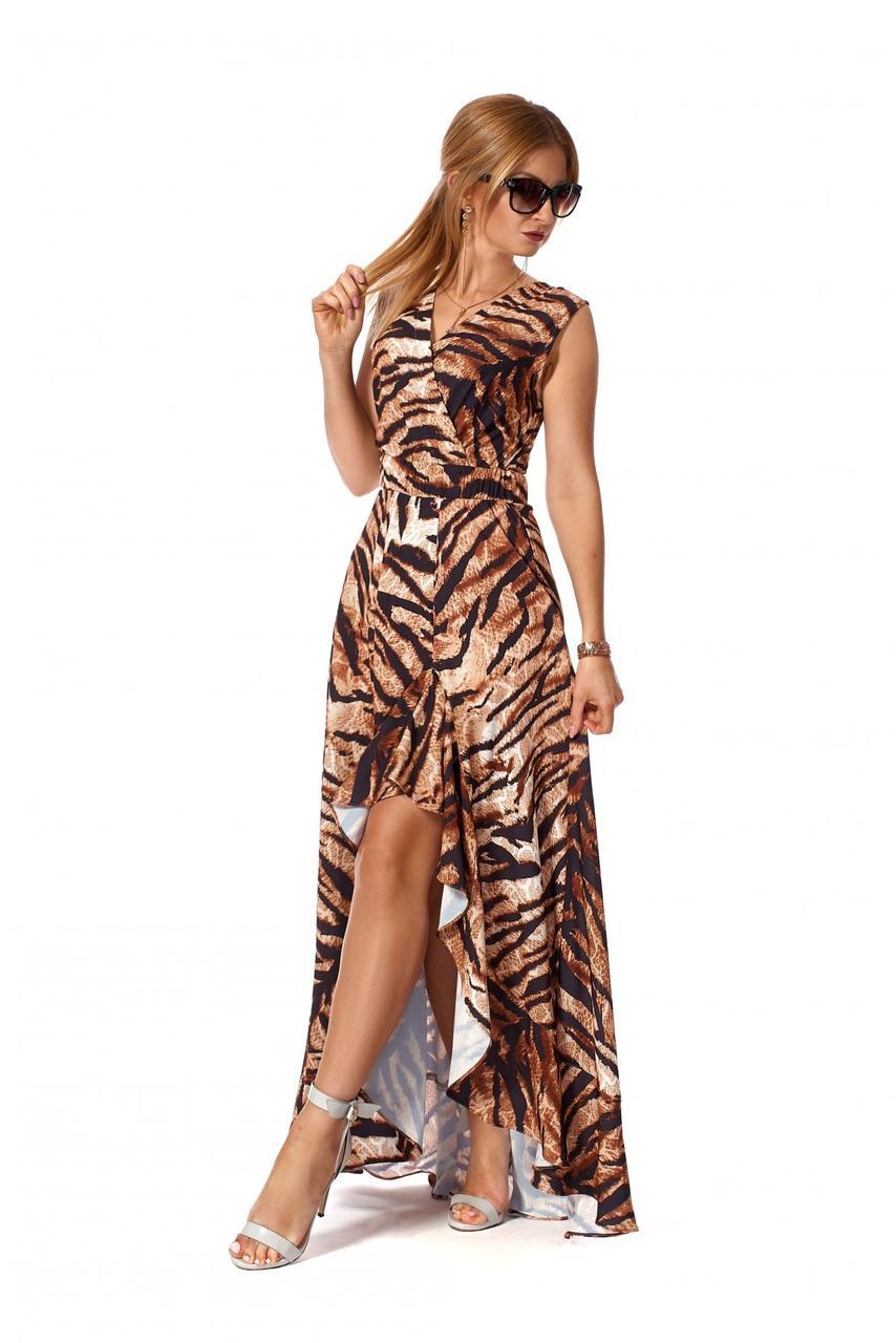 Платье летнее 1164.2 принт тигр