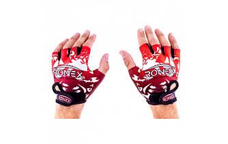 Перчатки для тренажерного зала Ronex Lycra+Amara RX-09