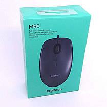 Проводная мышь (мышка) Logitech M90 USB Grey (910-001794) , фото 3