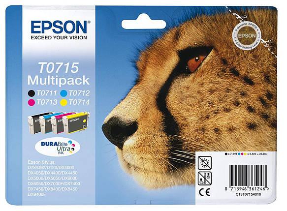 Картридж - Epson Original T0715 4-Color), фото 2