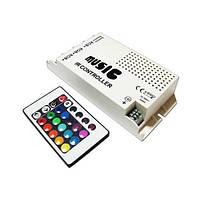 Музыкальный контроллер для LED ленты RGB IK-управление 24 кнопок 60 ВТ. звукочувствительный