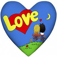 Подушка Love is сердце, Подушка Love is серце, Подушки интерьерные