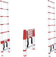 Лестница алюминиевая телескопическая 10 ступеней 3.20 м Intertool LT-3032