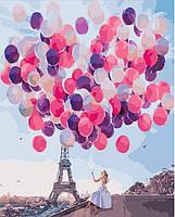 Картина по номерам в коробке. Воздушные шары.Париж, Картины по номерам, Картина за номерами в коробці. Повітряні кулі.Париж
