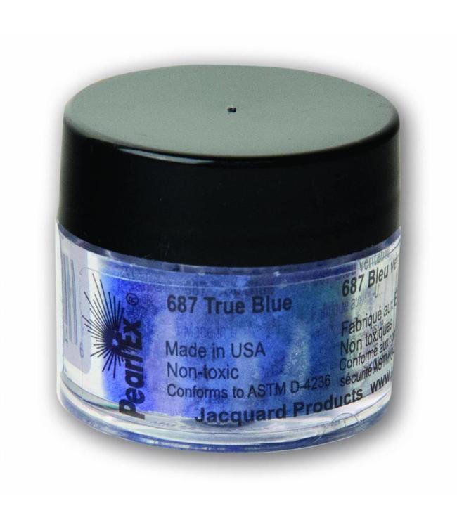 Пигмент высококачественный перламутр Перлекс PearlEx Перлекс(США)настоящий синий 687, пробник 2 г