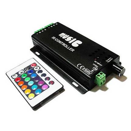 Музыкальный контроллер для LED ленты RGB IK-управление 24 кнопок 120 ВТ. звукочувствительный, фото 2