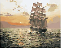 Картина по номерам в коробке. Корабль в море, Картины по номерам, Картина за номерами в коробці. Корабель у морі