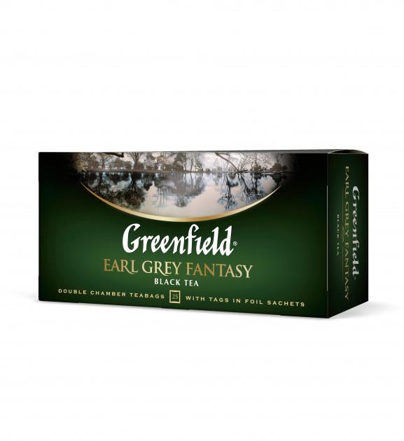 Чай черный с бергамотом Greenfield Earl Grey Fantasy 25 пак.