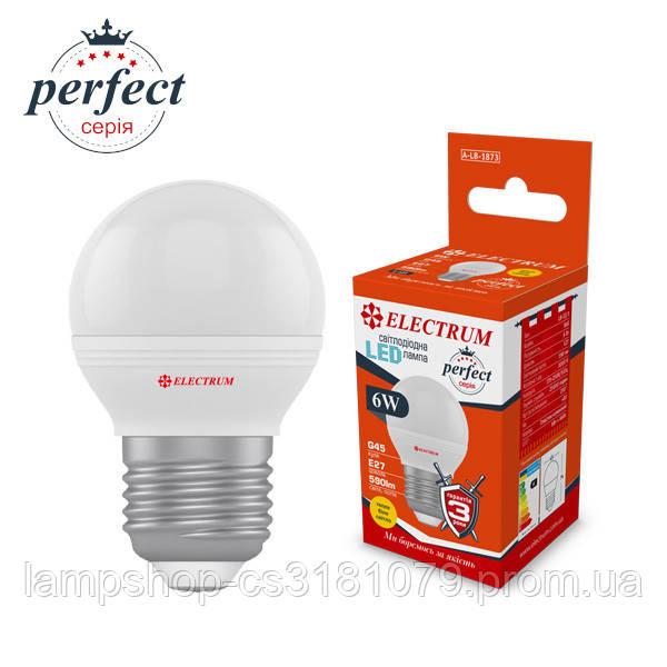 Лампа светодиодная шар LB-32/1 6W E14 4000K алюмопластиковый корп. A-LB-1872