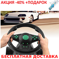 Игровой мультимедийный универсальный руль vibration steering wheel ps3 ps2 pc USB Original size+Селфи палка, фото 1