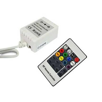 Контроллер для LED ленты RGB радиоуправление 20 кнопок 72 ВТ., фото 2