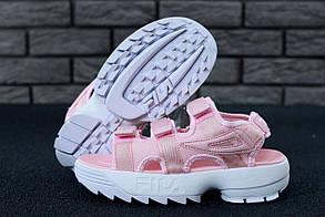 Женские Fila Sandals Pink/White