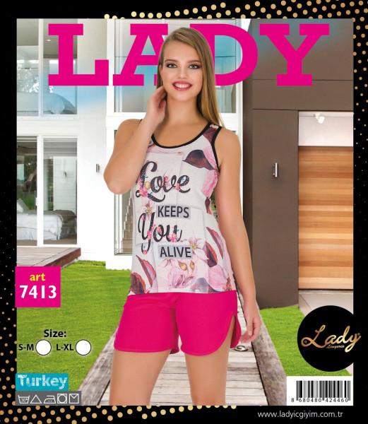 Футболка з шортами LADY LINGERIE 7413