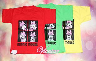 Детская футболка Минни Маус для девочки кулир