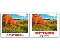 "Карточки мини русско-английские ""Времена года/Seasons"" 40 карт  630904"