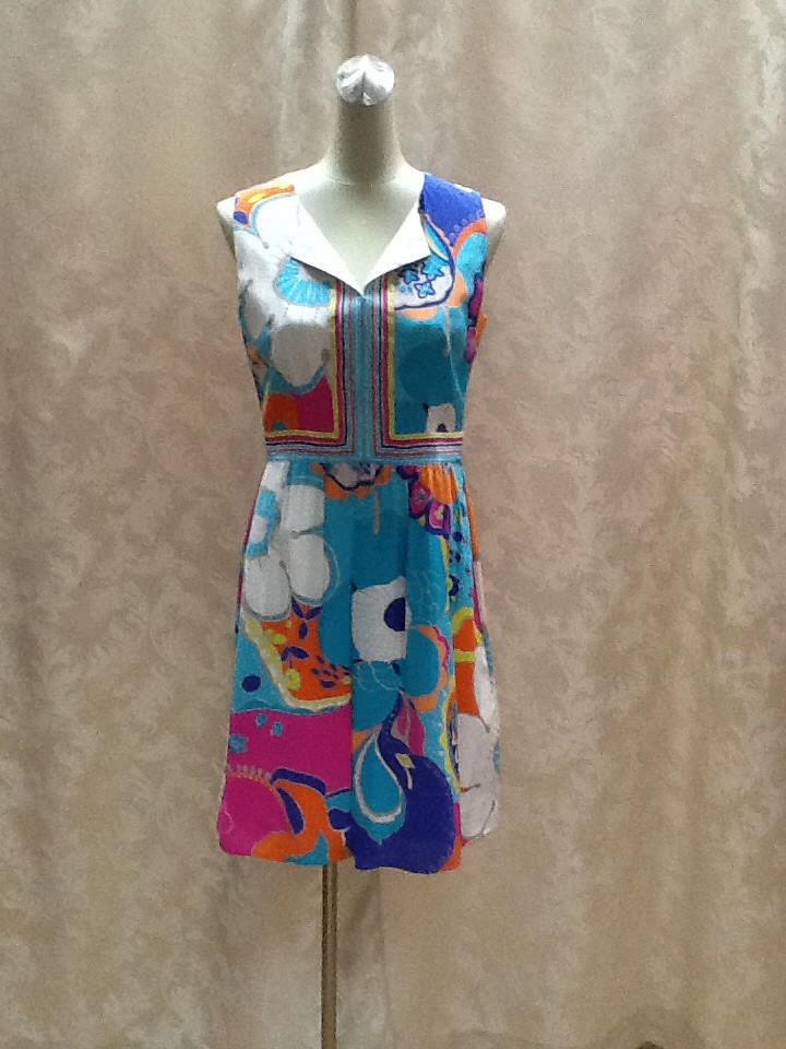 Платье бирюзовое без рукава Trino Turk