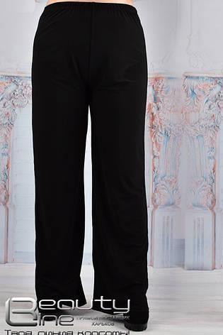Класичні чорні штани з масла для повних, фото 2
