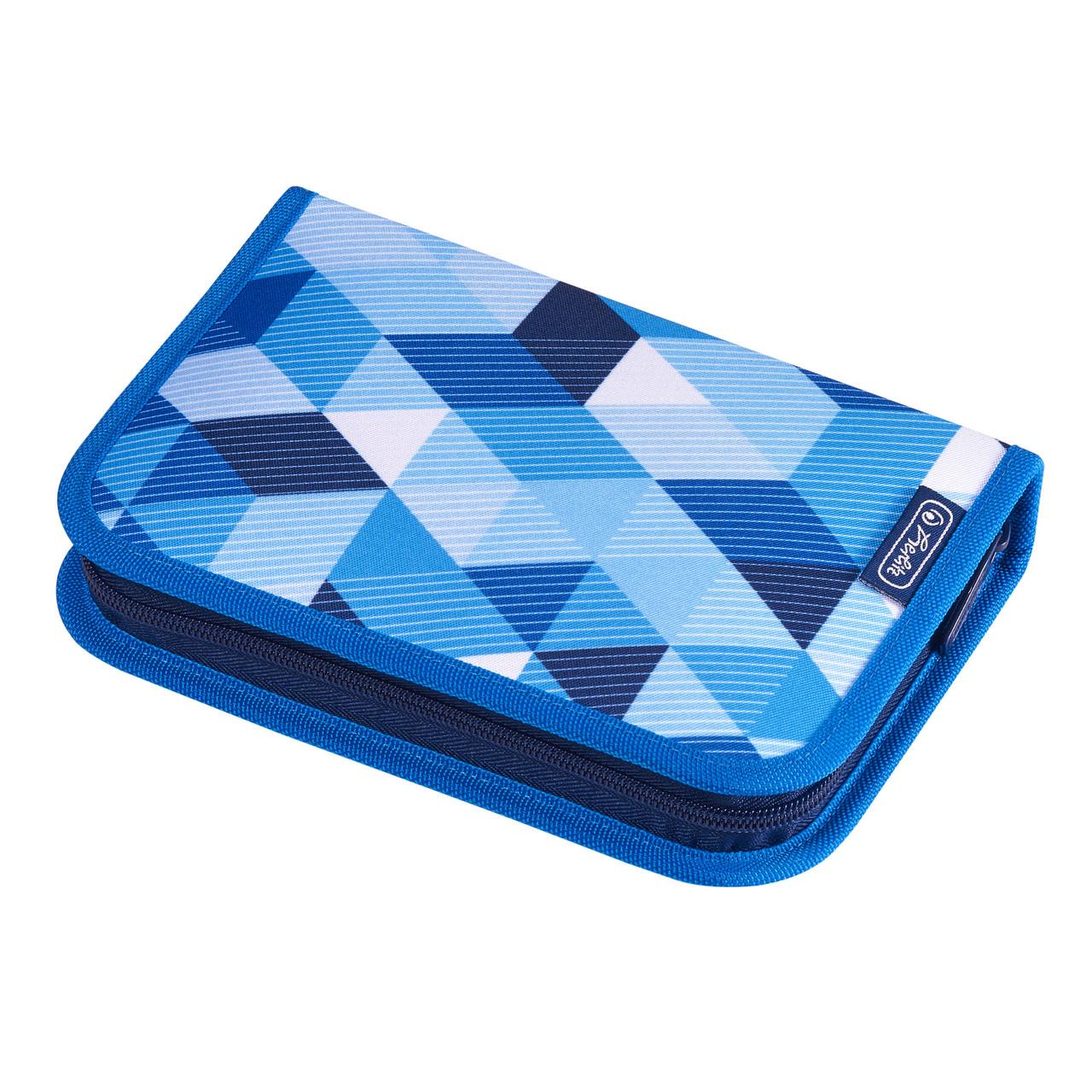 Пенал с наполнением 31 предмет Herlitz Cubes Blue Кубики голубые (50021031)