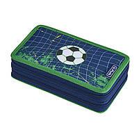 Пенал с наполнением 23 предмета Herlitz Double Kick It Футбол (50020904), фото 1