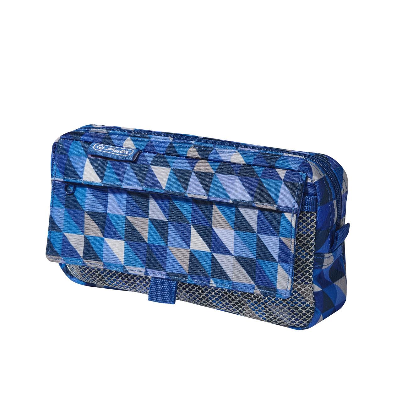Пенал Herlitz Pockets Cubes Blue Синий (5002252)