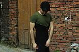 Мужская футболка летняя черная с зеленым. Живое фото. Топ качество, фото 3