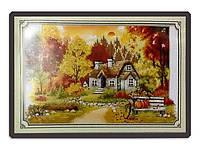 Набор для вышивки картины Лесная Хижина 68х48см