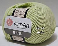 Пряжа для вязания хлопок/акрил JEANSот YarnArt № 11 - мята