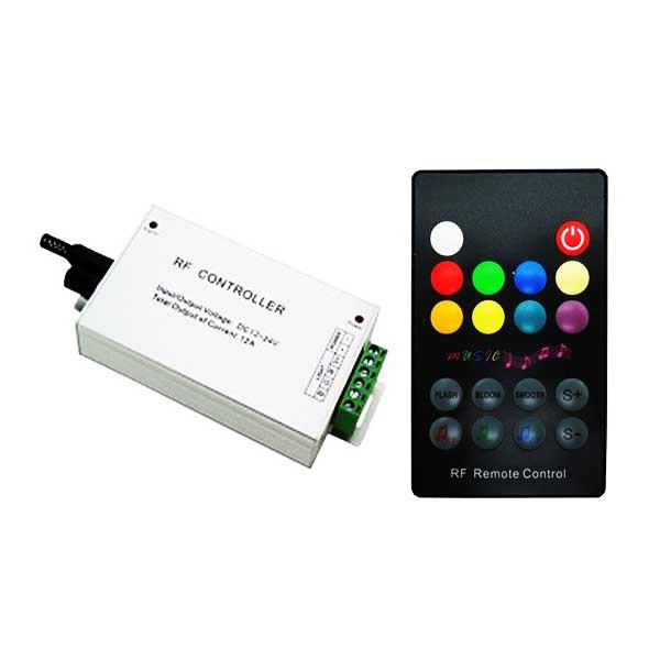 Музыкальный контроллер для LED ленты RGB радиоуправление 18 кнопок 144 ВТ. звукочувствительный
