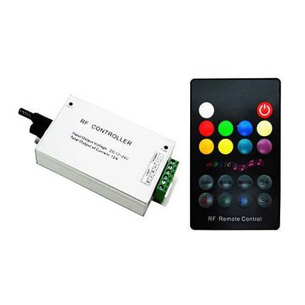 Музыкальный контроллер для LED ленты RGB радиоуправление 18 кнопок 144 ВТ. звукочувствительный, фото 2