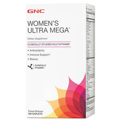 Витамины для женщин Women's Ultra Mega GNC 180 капс, фото 2