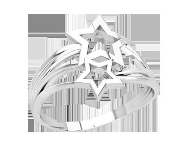 Кольцо женское серебряное Звездочки 21327