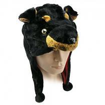 Шапка маска Собака черная