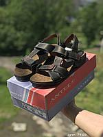 Мужские сандали в стиле Antec, кожа, черные *** 40 (26 см)