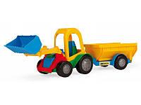 Игрушечная машина Трактор с прицепом 39229 Wader