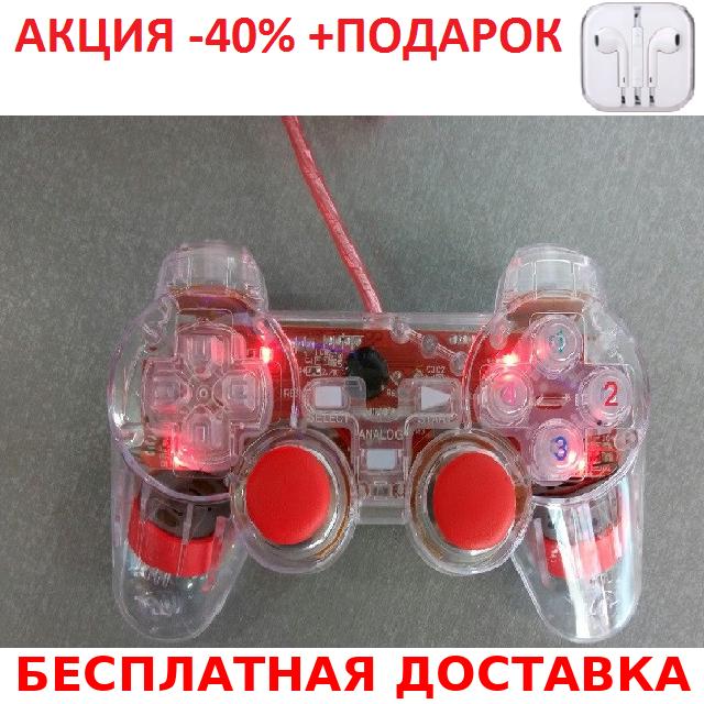 K800 Xbox 360 красный джойстик PC проводной c подсветкой Original size+Наушники