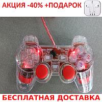 K800 Xbox 360 красный джойстик PC проводной c подсветкой Original size+Наушники, фото 1