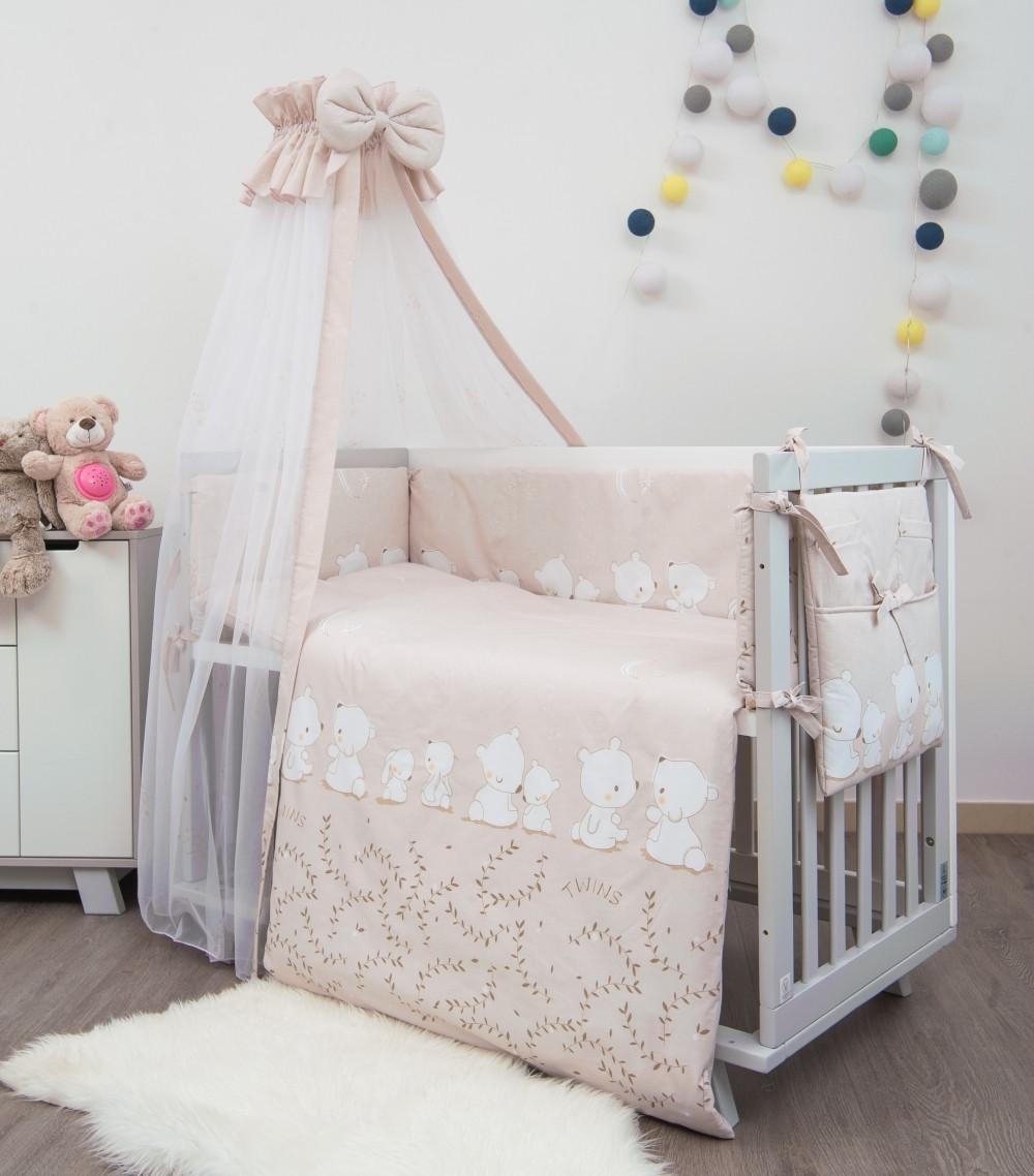 Детская постель Twins Sweet 8 эл SW-016 Umka pink 8 эл. (Постіль твинс )