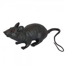 Резиновая Крыса 23х10 см черная