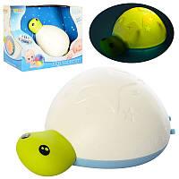 Ночник черепаха, 15см, музыка, свет, Bluetooth, 999-304B