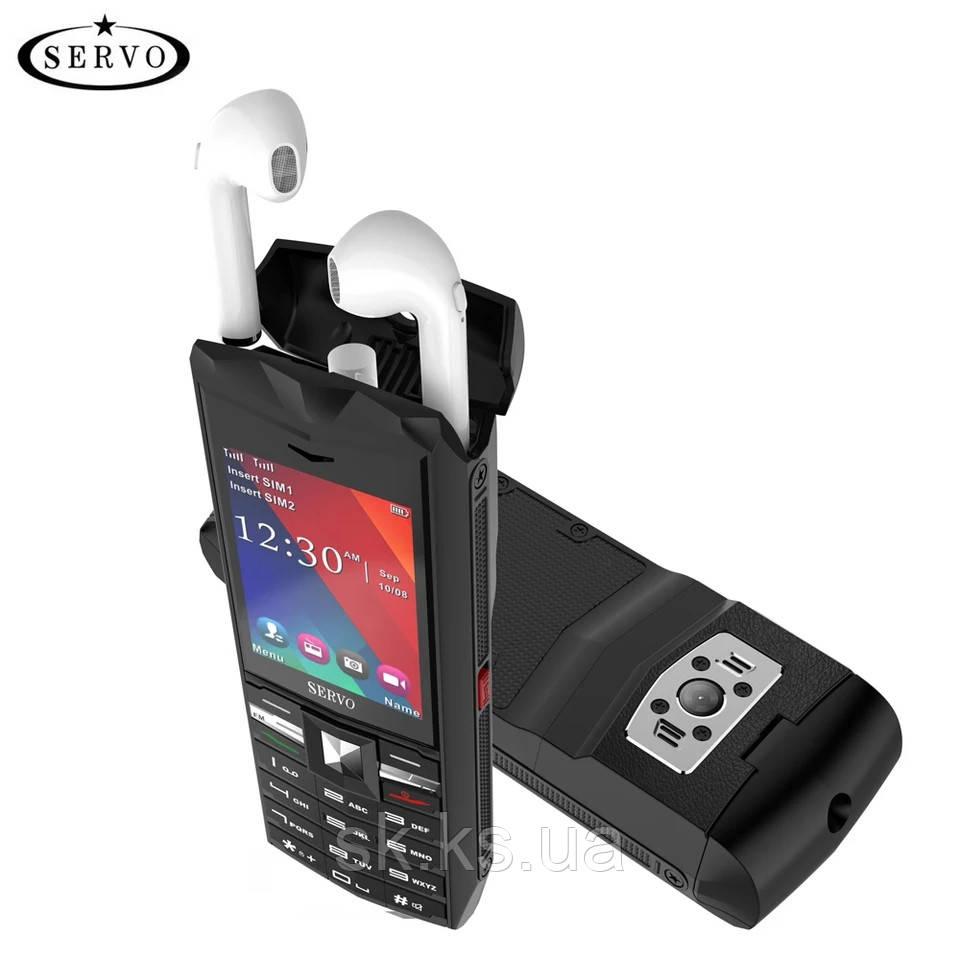 Servo R26 телефон + беспроводные наушники внутри.