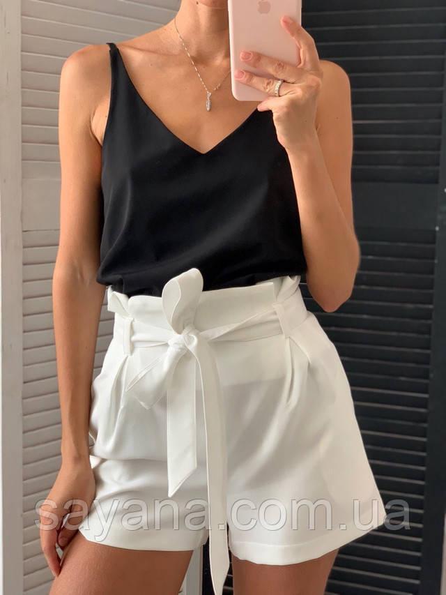 женский комплект: шорты с топом