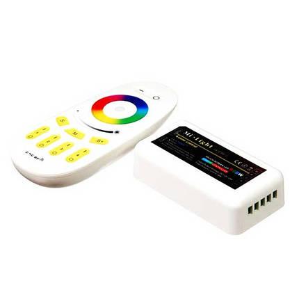 Контроллер для LED ленты RGB радиоуправление сенсорный 288 ВТ. 2.4 ГГц. до 4 зон управления, фото 2