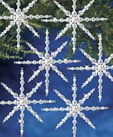 """Набор бисероплетения """"Crystal & Pearl Snowflake//Хрустальные и жемчужные снежинки"""" The Beadery"""